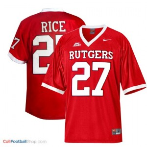 Ray Rice Rutgers Scarlet Knights #27 - Red Jersey