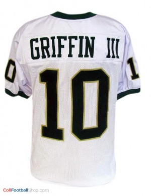Robert Griffin III Baylor University #10 - White Jersey