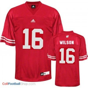 Russell Wilson UW Badger #16 Youth - Red Jersey