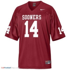 Sam Bradford OU Sooner #14 Youth - Crimson Red Jersey