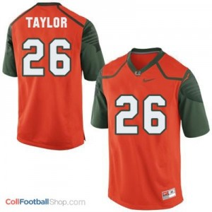 Sean Taylor U of M Hurricanes #26 Youth - Orange Jersey