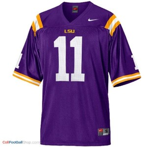 Spencer Ware LSU Tigers #11 Mesh - Purple Jersey