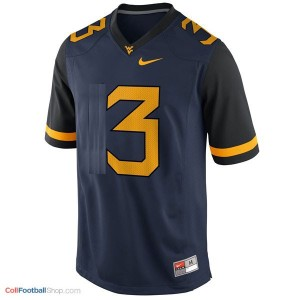 Stedman Bailey WVU Mountaineer #3 - Blue Jersey