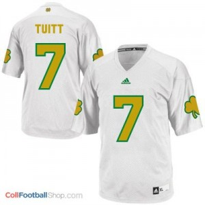 Stephon Tuitt ND Irish #7 Shamrock Series Youth - White Jersey
