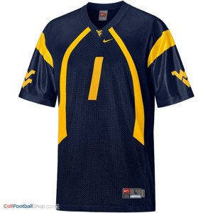 Tavon Austin WVU Mountaineer #1 Youth - Blue Jersey