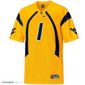 Tavon Austin WVU Mountaineer #1 Youth - Gold Jersey