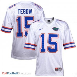 Tim Tebow UF Gators #15 Youth - White Jersey