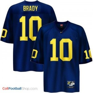 Tom Brady UMich Wolverines #10 Youth - Navy Blue Jersey
