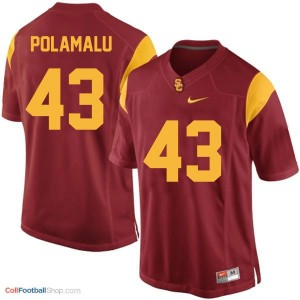 Troy Polamalu USC Trojans #43 Youth - Red Jersey
