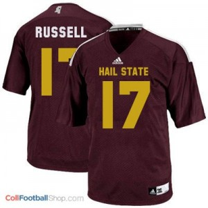 Tyler Russell Mississippi State Bulldogs #17 - Maroon Red Jersey