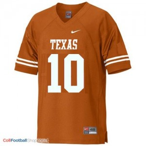 Vince Young Texas Longhorns #10 Youth - Orange Jersey