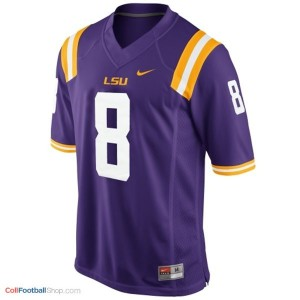 Zach Mettenberger LSU Tigers #8 Mesh Youth - Purple Jersey