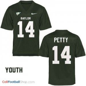 Bryce Petty Baylor Bears #14 Youth - Green Jersey