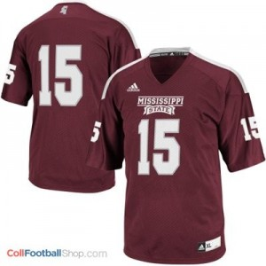 Mississippi State Bulldogs #15 - Maroon Red Jersey