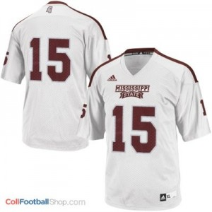 Mississippi State Bulldogs #15 - White Jersey