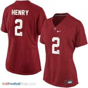 Derrick Henry UA Crimson Tide #2 Women - Crimson Red Jersey