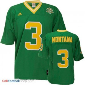 Joe Montana ND Irish #3 - Green Jersey