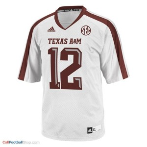 12th Man Texas A&M Aggies #12 Youth - White Jersey