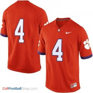 Clemson Tigers #4 College - Orange Jersey