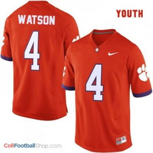 Deshaun Watson Clemson Tigers #4 College - Orange - Youth Jersey