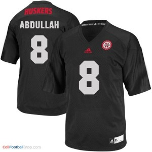 Ameer Abdullah UN Cornhuskers #8 Youth - Black Jersey