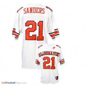 Barry Sanders Oklahoma State Cowboys #21 - White Jersey