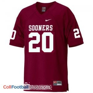 Billy Sims OU Sooner #20 Youth - Crimson Red Jersey