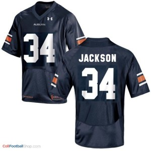 Bo Jackson AU Tigers #34 Youth - Navy Blue Jersey
