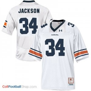 Bo Jackson AU Tigers #34 Youth - White Jersey