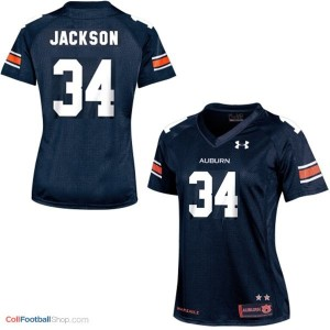 Bo Jackson AU Tigers #34 Women - Navy Blue Jersey