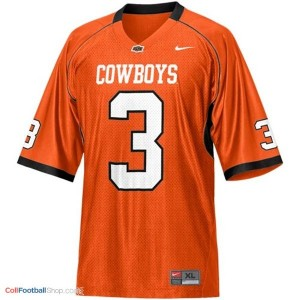 Brandon Weeden Oklahoma State Cowboys #3 Youth - Orange Jersey