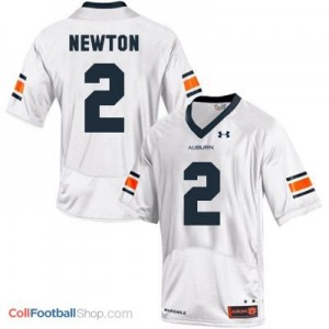 Cam Newton AU Tigers #2 Youth - White Jersey