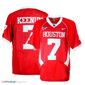 Case Keenum Houston Cougars #7 - Red Jersey