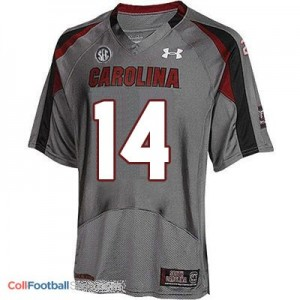 Connor Shaw USC Gamecock #14 - Gray Jersey