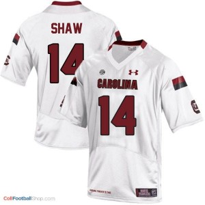 Connor Shaw USC Gamecock #14 - White Jersey