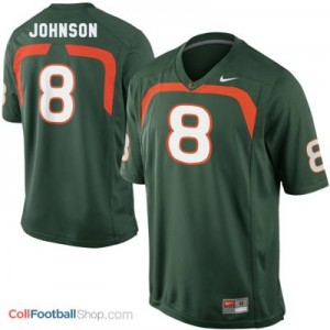 Duke Johnson Miami Hurricanes #8 - Green Jersey