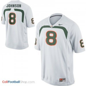 Duke Johnson Miami Hurricanes #8 - White Jersey