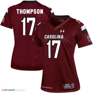 Dylan Thompson USC Gamecock #17 Women - Red Jersey