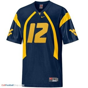Geno Smith WVU Mountaineer #12 Youth - Blue Jersey