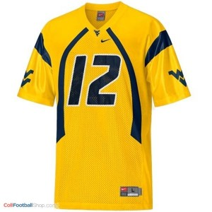 Geno Smith WVU Mountaineer #12 Youth - Gold Jersey