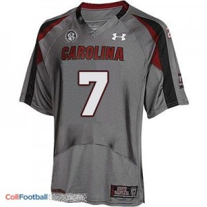 Jadeveon Clowney USC Gamecock #7 Youth - Gray Jersey