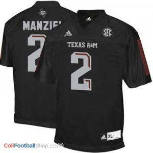 Johnny Manziel Texas A&M Aggies #2 Youth - Black Jersey