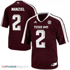 Johnny Manziel Texas A&M Aggies #2 Youth - Maroon Red Jersey