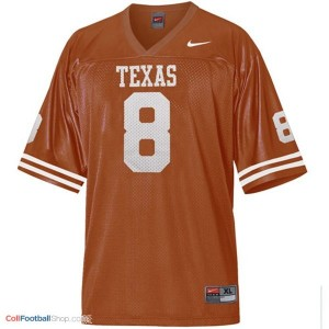 Jordan Shipley Texas Longhorns #8 Youth - Orange Jersey