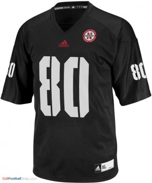 Kenny Bell UN Cornhuskers #80 Youth - Black Jersey