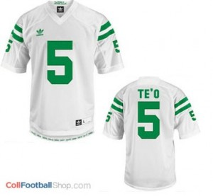 Manti Te'o ND Irish #5 - White Jersey