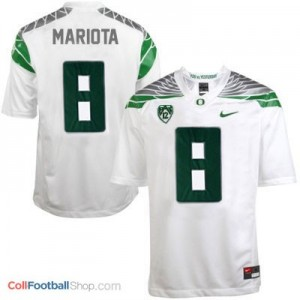 Marcus Mariota UO Duck 2014 #8 Mach Speed - White Jersey