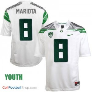 Marcus Mariota UO Duck 2014 #8 Mach Speed Youth - White Jersey