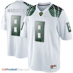 Marcus Mariota UO Duck #8 Youth - White Jersey