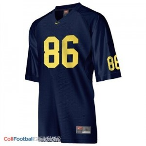 Mario Manningham UMich Wolverines #86 Youth - Navy Blue Jersey